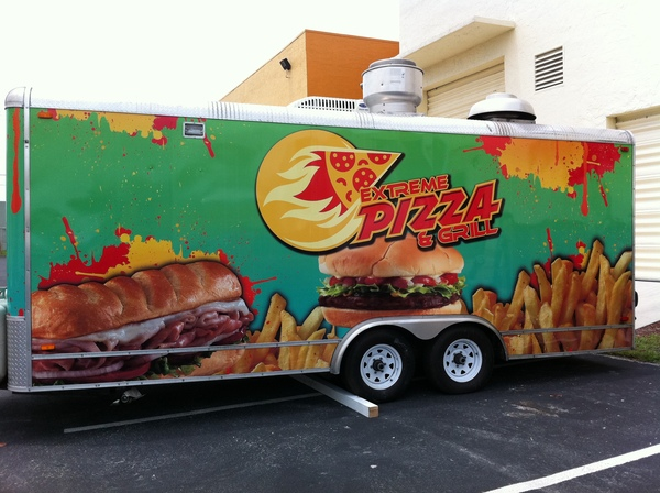 Extreme Pizza & Grill Food Truck Wrap BrandMeBro